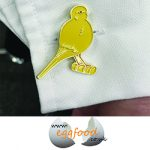 Cufflinks Canary Yellow