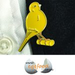 Pin Badge Canary Yellow